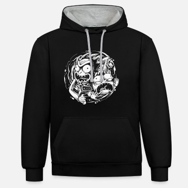 Felix Selection Rick And Morty Time Warp Travels - Unisex Contrast Hoodie