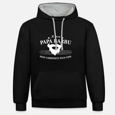 Barbu papa barbu - Sweat-shirt contraste