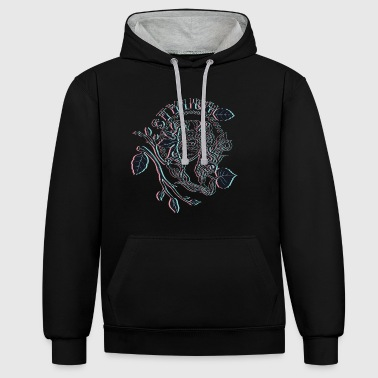stylish - Contrast Colour Hoodie