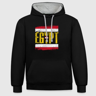 Egypt Country Shirt - Egypt - Contrast Colour Hoodie