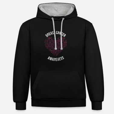 Warrior Breast Cancer Awareness - Contrast Colour Hoodie