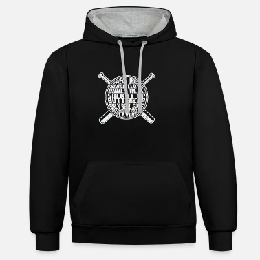 Softball Softball - Contrast Colour Hoodie