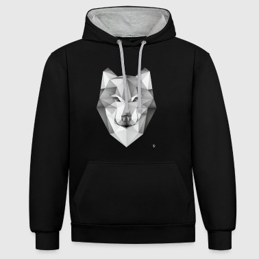 AD Geometric Wolf - Sweat-shirt contraste