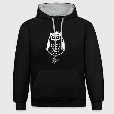 I miss you owl - Contrast Colour Hoodie