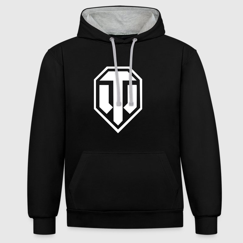 World of Tanks Logo - Bluza z kapturem z kontrastowymi elementami