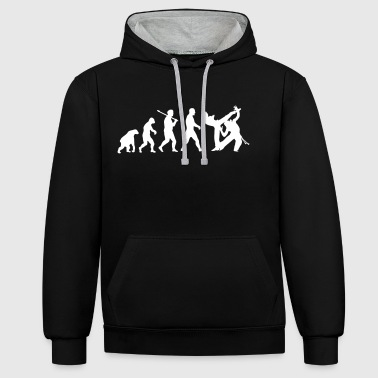 Evolution: Capoeira - Contrast Colour Hoodie