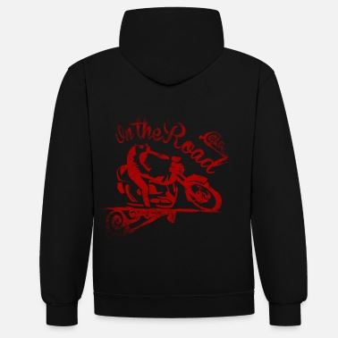 Bikes And Cars Collection Black/heather grey motorossa Hoodies & Sweatshirts - Contrast Colour Hoodie