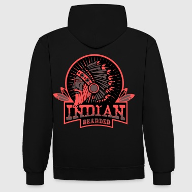 INDIAN BEARDED - Kontrast-Hoodie