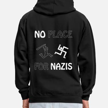Militant Antifasciste pas de place pour les nazis - Sweat-shirt contraste