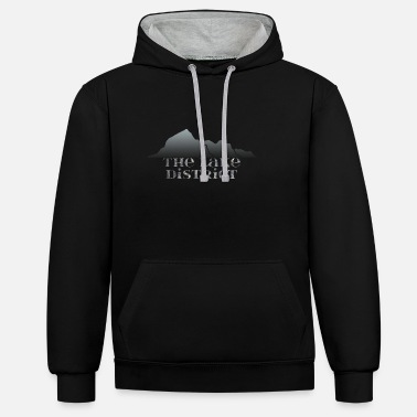 Lake The Lake District - Unisex Contrast Hoodie