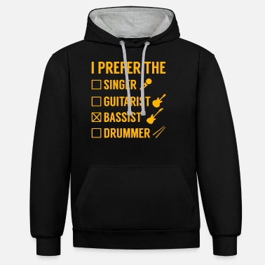 Bass Player bass player - Unisex Contrast Hoodie