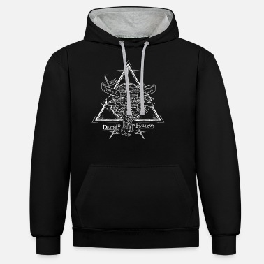 Harry Harry Potter The Deathly Hallows - Unisex Hoodie zweifarbig