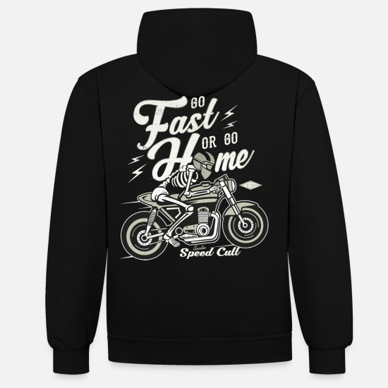 Bikes And Cars Collection V2 Hoodies & Sweatshirts - Go Fast Or Go Home - Unisex Contrast Hoodie black/heather grey
