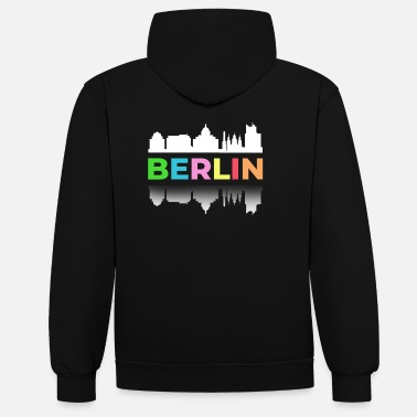 Federal Capital Berlin Colorful Federal Capital Germany Wall Duomo - Unisex Contrast Hoodie