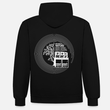 Sound System RESPECT TH NATURE YOURSELF OTHERS SOUND SYSTEM - Unisex Contrast Hoodie