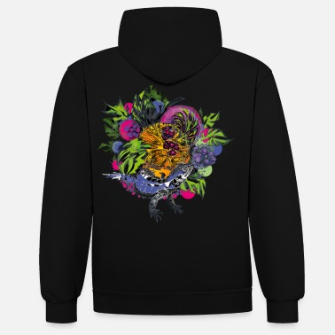 Strange Fruits Color - Unisex Contrast Hoodie