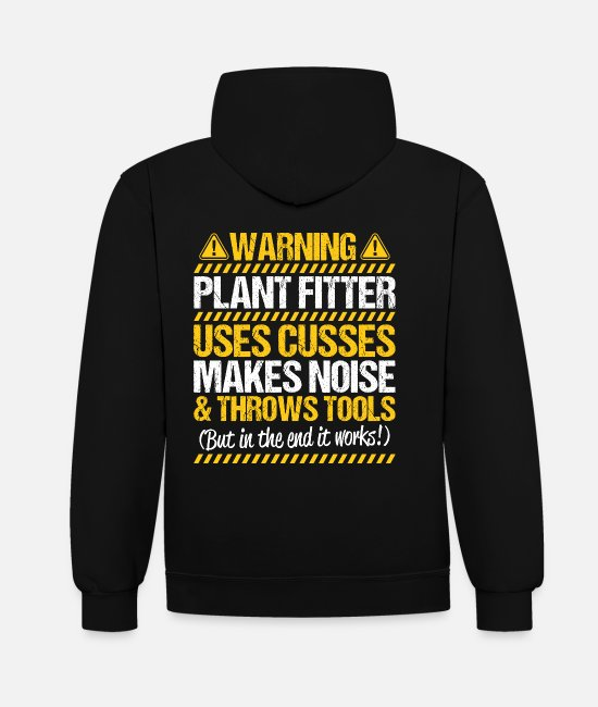 Fitter Hoodies & Sweatshirts - Plant mechanic Plant Fitter Plant mechanics - Unisex Contrast Hoodie black/heather grey