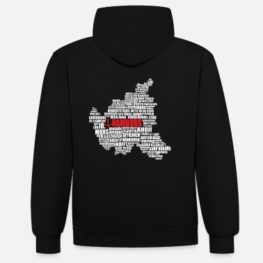 Low German Hamburg Low German Shirt - Unisex Contrast Hoodie
