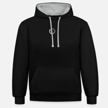 Video Buffer Charge symbol in gray - Unisex Contrast Hoodie