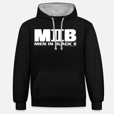 Men In Black 2 Logo - Unisex Contrast Hoodie