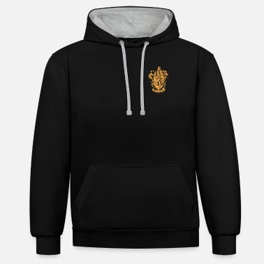 Harry Potter Gryffindor Coat of Arms small - Kontrast hoodie unisex