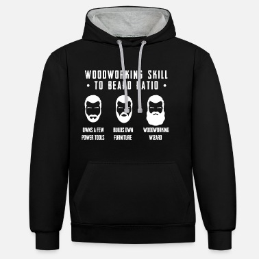 Beard Carpenter woodworking beard master craftsman - Unisex Contrast Hoodie