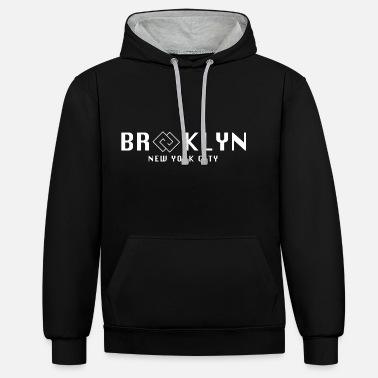 Hip Brooklyn New York City - Unisex contrast hoodie