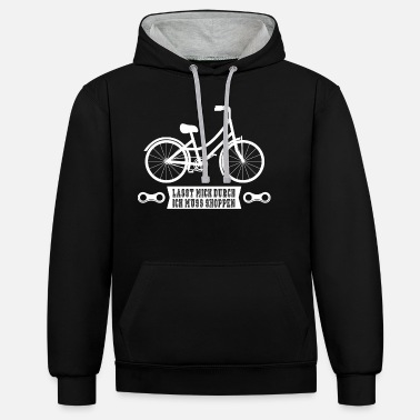 Go shopping by bike - Unisex Contrast Hoodie