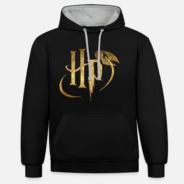Gold Harry Potter Logo Gold - Unisex Hoodie zweifarbig