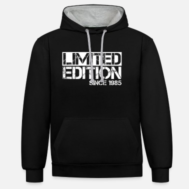 Limited Edition 1985 Birthday birth year birth - Unisex Contrast Hoodie