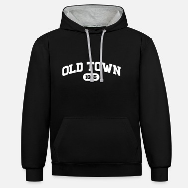 Hastings Old Town College Style Old Town - Unisex Contrast Hoodie