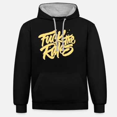 Fuck the Rules - Unisex Hoodie zweifarbig