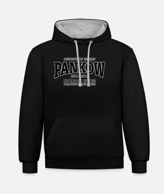 East Berlin Hoodies & Sweatshirts - Berlin Pankow (black oldstyle) - Unisex Contrast Hoodie black/heather grey