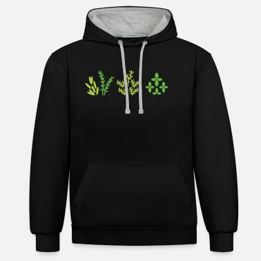 Plant Grounds plants - Unisex Contrast Hoodie