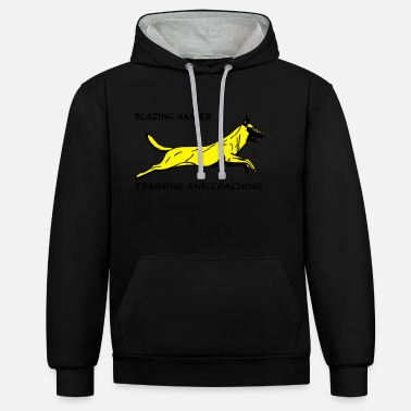 Blazing Amber Training And Coaching Jumping Dog Agility Hond Blazing AmberTraining - Unisex Contrast Hoodie