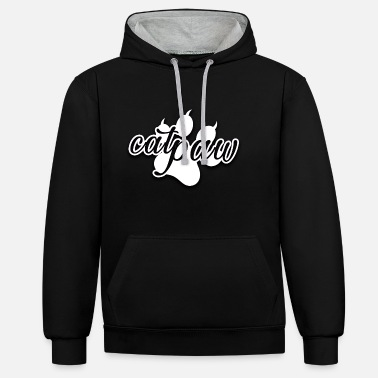 Kitty Cat Catpaw Cats Paw Kitty Cat - Unisex Contrast Hoodie