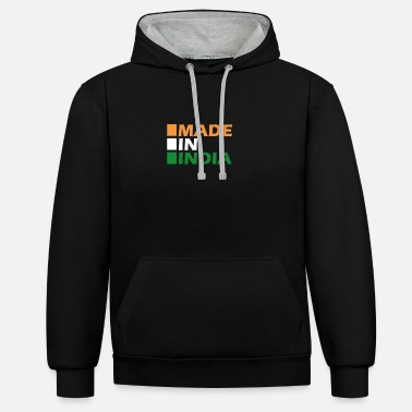 Made In India Made in India - Unisex Contrast Hoodie