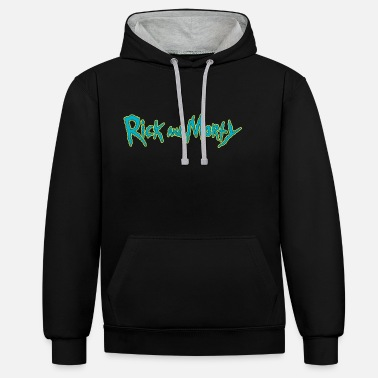 Officialbrands Rick And Morty Title Typography - Unisex Contrast Hoodie