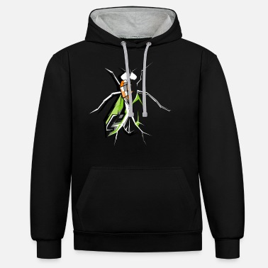 Fly-insect fly insects insects fly fly symbol - Unisex Contrast Hoodie