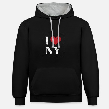 I love New York holidays - Unisex Contrast Hoodie