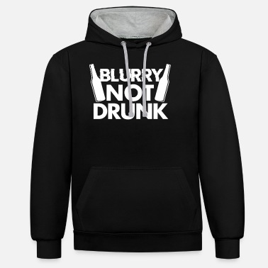 Belly Beer drunk alcohol - Unisex Contrast Hoodie