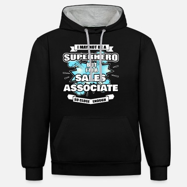 Korting Sales Associate Gift Superhero Sales Associate - Unisex contrast hoodie