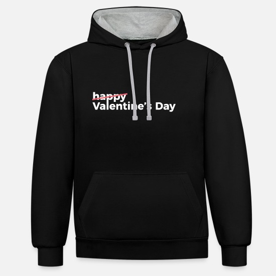 Single Hoodies & Sweatshirts - single - Unisex Contrast Hoodie black/heather grey