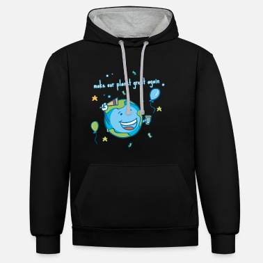Planet Make our planet great again! - Unisex Contrast Hoodie