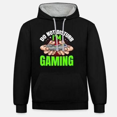 Do not disturb i'm gaming - Unisex contrast hoodie
