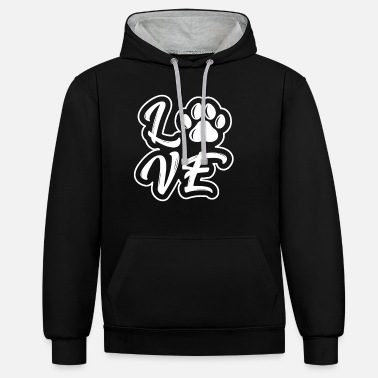 Walking Dog dog lover dog walking gift idea - Unisex Contrast Hoodie