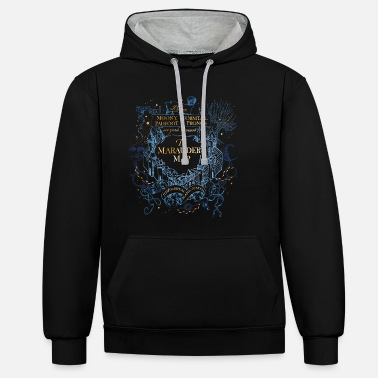 Karte Harry Potter The Marauder's Map - Unisex Hoodie zweifarbig