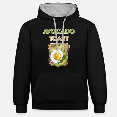 Funny Avocado Sayings Avocado Toast Avocado Bread Funny avocado sayings - Unisex Contrast Hoodie