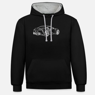 Supra MKV side rear view - Unisex Contrast Hoodie