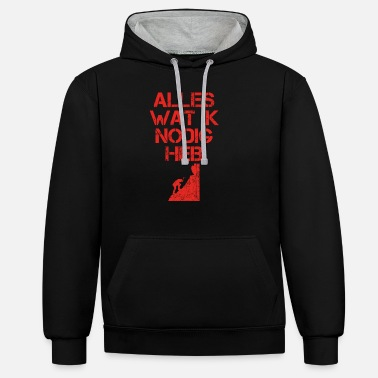 View view of the - Unisex Contrast Hoodie